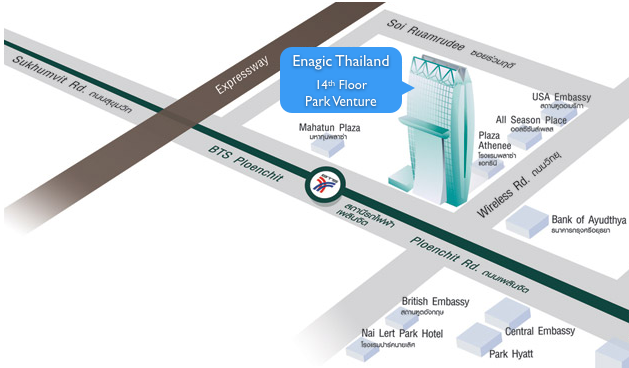 Enagic_Thailand_map