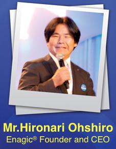 Mr. โอชิโร CEO และ ผู้ก่อตั้ง Enagic